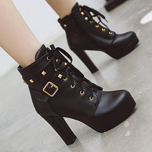 High heels Ankle boots for women platforms boots Ladies Winter boots shoes woman botas mujer botte femme zapatos mujer