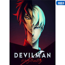 29*42cm Devilman Crybaby Japanese Anime Poster Home Decor Wall Classic Cloth Poster