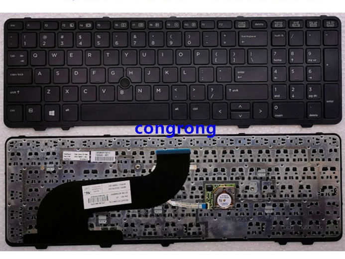 US Keyboard with Pointer for HP Probook 650 G1 655 G1 laptop keyboard 738697 001|Keyboards| |  - title=
