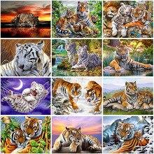 DIY Craft Tiger 5D Diamond Painting Full Square/Round Mosaic Animal Diamond Embroidery Rhinestone Home Decor Christmas Gift