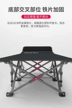 Folding Bed Portable Single Nap Simple Bed Office Couch Escort Camp Bed Composite Fabric folding bed