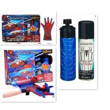ספיידרמן קוספליי מגה blaster עם כפפות משגרי PVC פעולה איור אוסף דגם צעצוע (לא עכביש Shot אינטרנט נוזל לא תיבה)