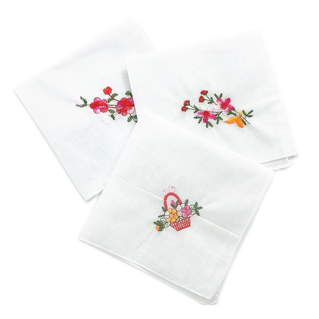 12 Pieces Ladies Classic Handkerchiefs Pocket Square Wedding Party Hankies