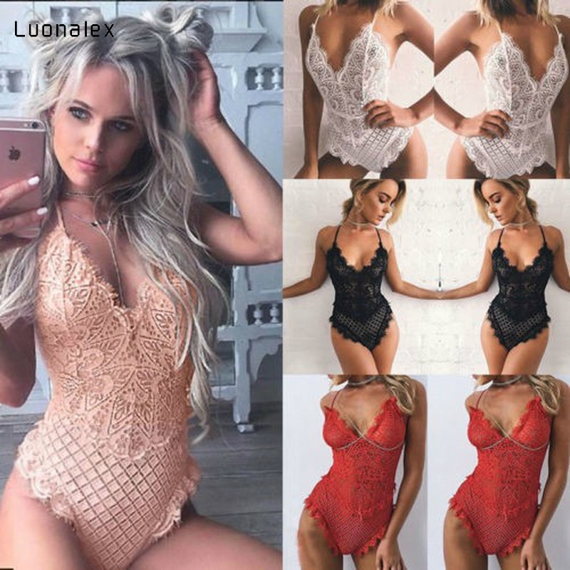 Luonalex Women Erotic Body Lady Sexy Lingerie Lace Babydoll G-string Thong Underwear Nightwear Sexy Costumes Teddy Plus Size