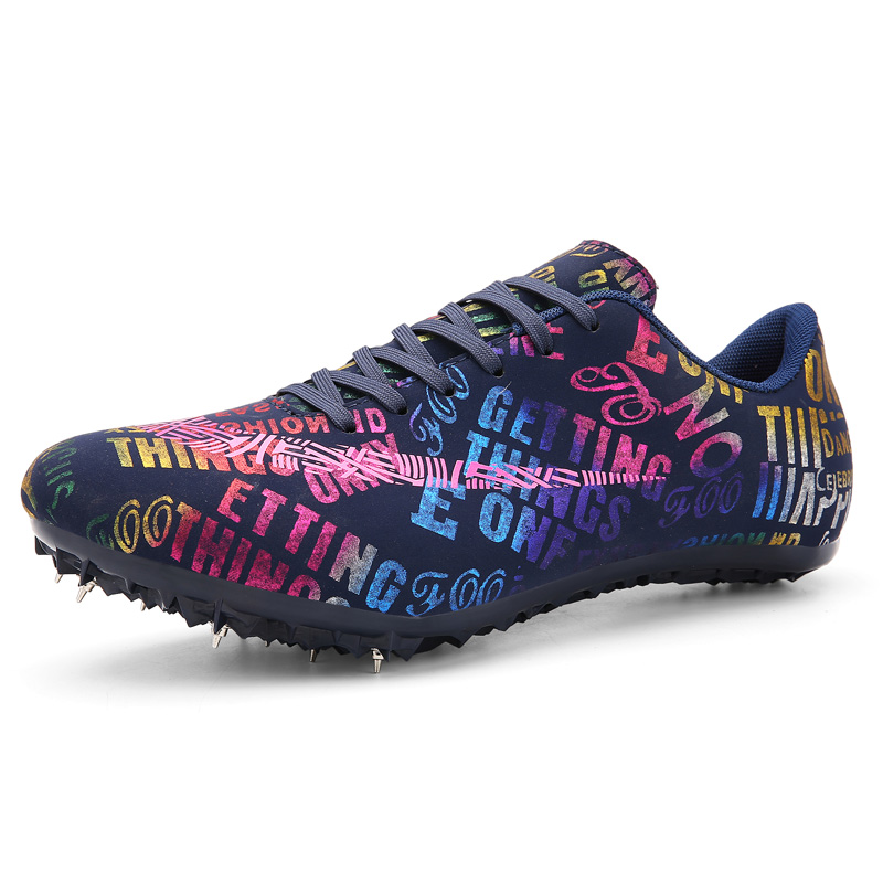 Men Women Spike Shoes Track and Field Outdoor Man Training Athletic Shoes Professional Women Running Track Race Field Sneakers