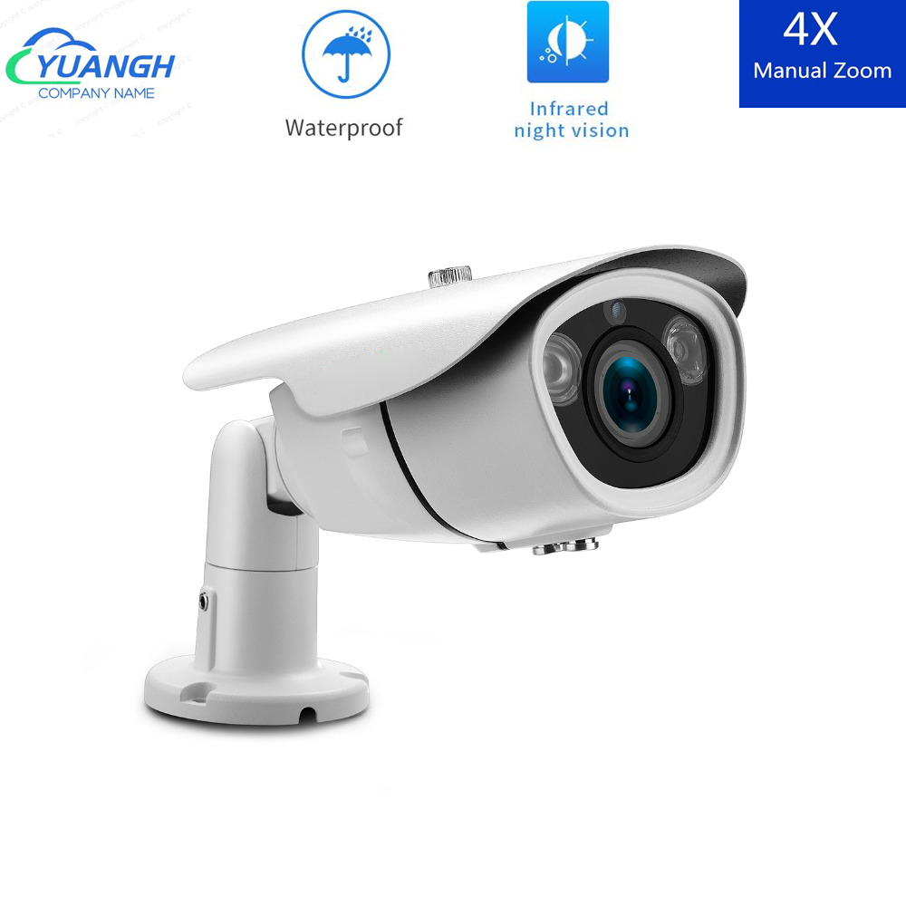 Bullet CCTV AHD Camera 5MP IR Night Vision OSD Menu 2.8-12mm Manual Zoom Lens Waterproof Outdoor Camera