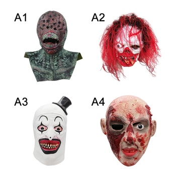 Horror Latex Mask Full Face Helmet Creepy Scary Halloween Cosplay Costume Mask For Adults Party Decoration Props