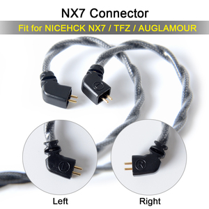 Image 5 - NICEHCK C4 1 Single Crystal Copper Silver Plated Cable 3.5/2.5/4.4mm Plug MMCX/2Pin/QDC/NX7 Pin For KXXS QDC TANCHJIM NX7/F3