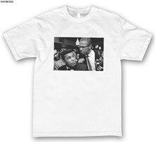Malcom x muhammad ali legendary personalizado camiseta masculina branco marca nova S-3XL 100% algodão nova marca t camisas