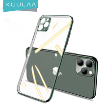 KUULAA Plating Phone Case For iPhone 11 Pro Max Transparent Back Case For iPhone 11Pro Soft TPU Case Cover Coque Shell