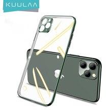KUULAA, carcasa de teléfono chapada para iPhone 11 Pro Max, funda trasera transparente para iPhone 11Pro, funda suave de TPU, carcasa, carcasa
