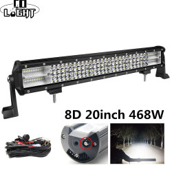 Co Licht 8D Led Bar 20Inch 468W 4X4 Led Worklight 12V 24V Spot Flood Led Light bar Voor Auto Tractor Truck Lada Niva Uaz Atv Suv