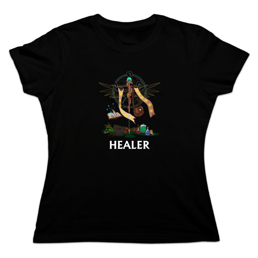 Healer Cleric Rpg Mmorpg Class Role Playing Game Women'S Novelty T-Shirt Brand Clothing Tee Shirt image