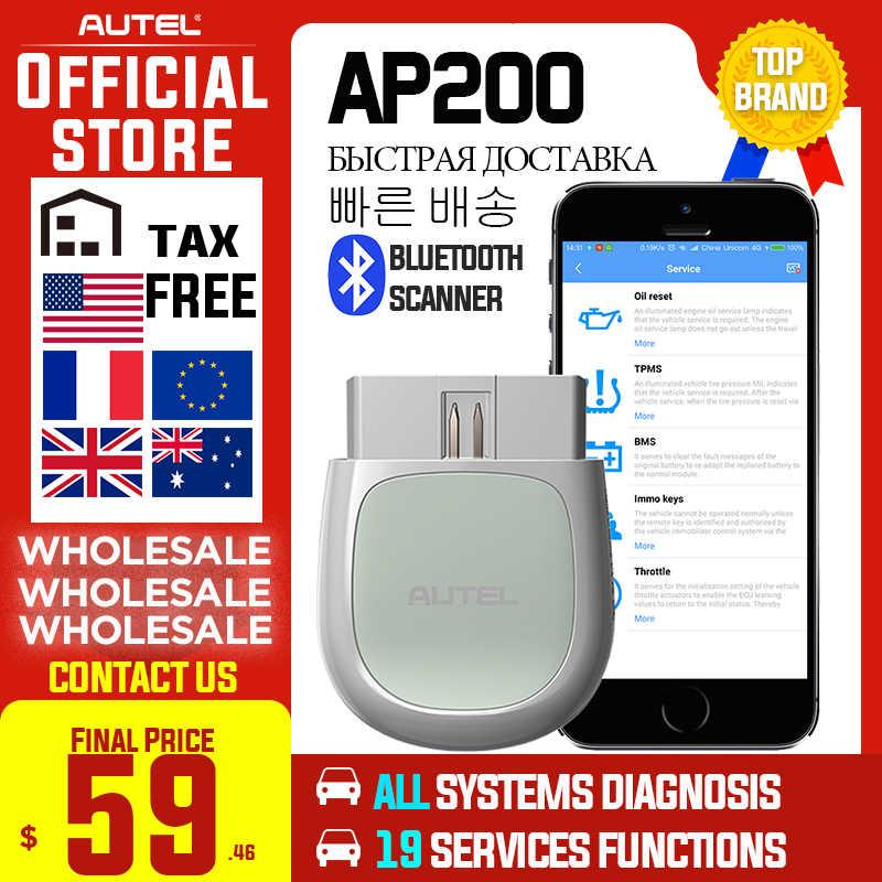 Autel AP200 Bluetooth OBD2 Máy Quét Automotivo OBD 2 TPMS Mã Xe Công Cụ Chẩn Đoán Cho DIYer PK MK808 Thinkdiag Easydiag