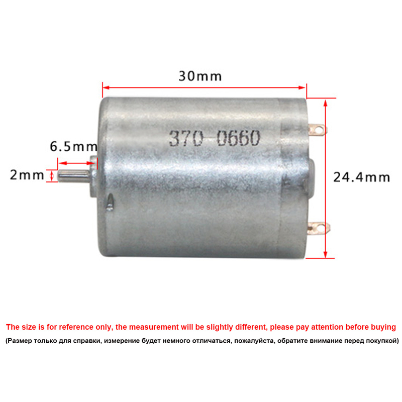DC Motor 6V 12V 24V Mini Electric DC 12 volt v High Speed 3000/4000/6000rpm Micro All-Metal Motor DC12V Reversible CW/CCW RF-370