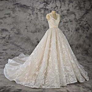 Image 2 - Royeememo Luxurious V neckline lace ball gown wedding dress 2020 bride dress