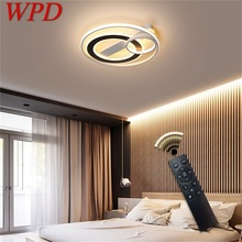 WPD Led Ceiling Lights Round Fixtures with Remote Control 3 Colors Brightness Adjustable and Dimmable For Home Bedroom Living