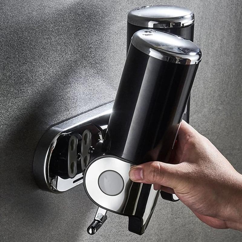 Hfedd5625eb90442eb18048013074e96ap LIUYUE Liquid Soap Dispenser 500 ml Bathroom Wall Mounted Plastic Shampoo Liquid Dispenser Hand Wash Kitchen Accessories