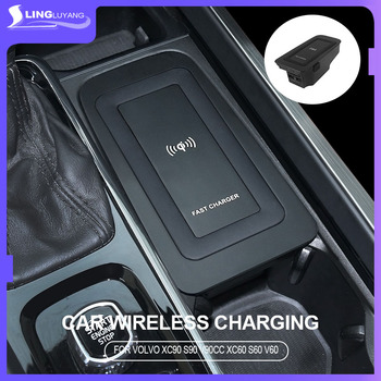For volvo xc60 s90 v90 new 2020 s60 v60 Qi Car Wireless Charger Induction Fast Charging 2015 2016 2017 2018 2019 xc90