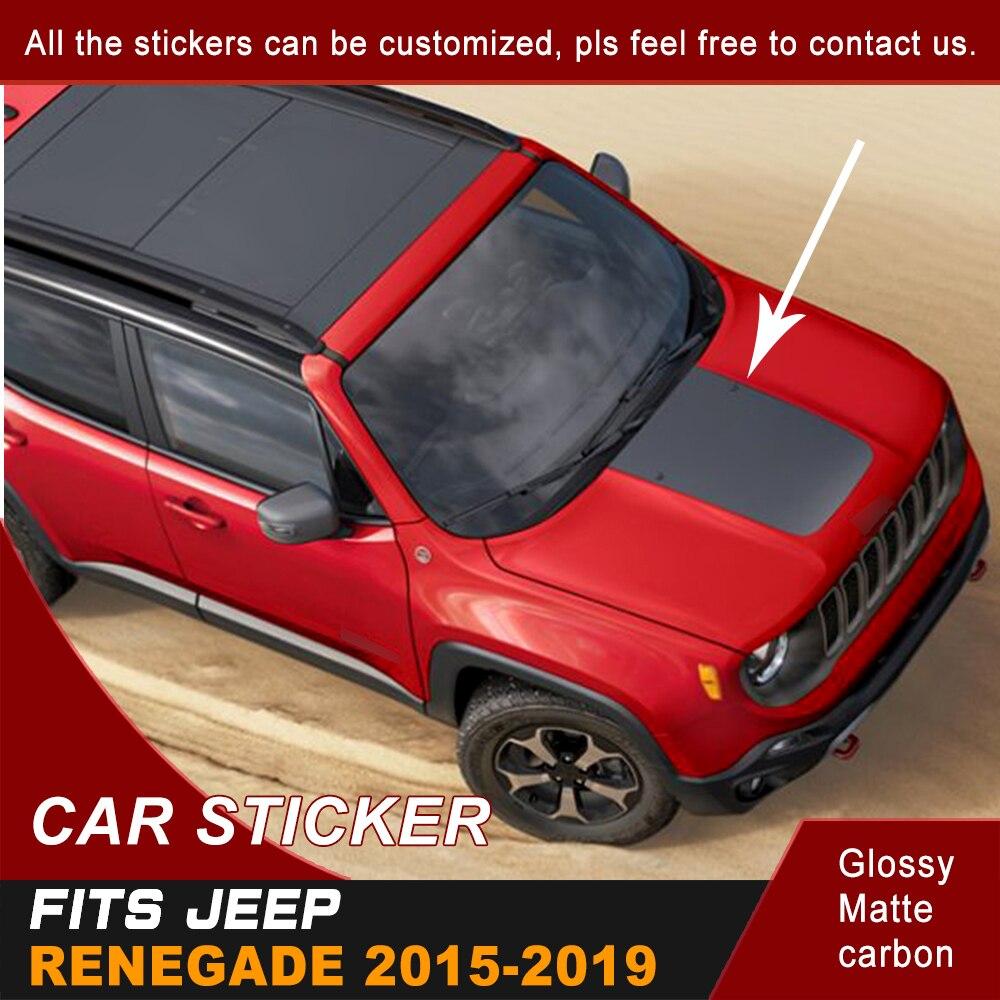 Автомобильные наклейки, капот, совок, простота, полоса, графический виниловый стикер, подходит для Jeep Renegade 2015 2016 2017 2018 2019