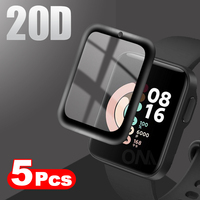 20D Curved Edge Full Soft Protective Film Cover For Redmi Watch / Mi Watch Lite / Xiaomi Color Screen Protector (Not Glass 1