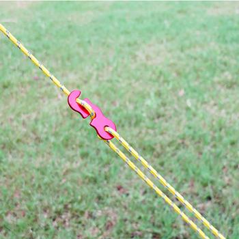 Lina stalowa aluminiowy regulator 3mm odblaskowy namiot przewodnik sznur oświetleniowy drut namiot liny napinacz camping piesze wycieczki uwięzi liny strand rock tanie i dobre opinie Rope Camping hiking lanyard rope Tent rope tensioner Wire rope aluminum regulator