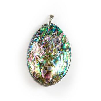 Naturalne dwustronne Abalone Shell wisiorki naszyjnik kolczyki kolorowe masa perłowa DIY muszle do tworzenia biżuterii tanie i dobre opinie MASKOTKA Materiał organiczny Nowoczesne