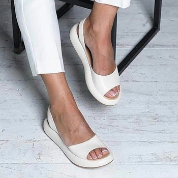 rome wedge sandals woman Large size 43 women summer sandals mature platform ladies sandals open toe female shoes women s summer sandals fashion party open toe heels shoes female classic belt buckle wedge shoes plus size 43