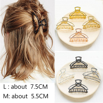 цена на New Fashion Women Hair Claws Hair Crab Clamp Hairgrip Plastic Hair Clip Claw Hairdressing Tool Hair Accessories for Women party