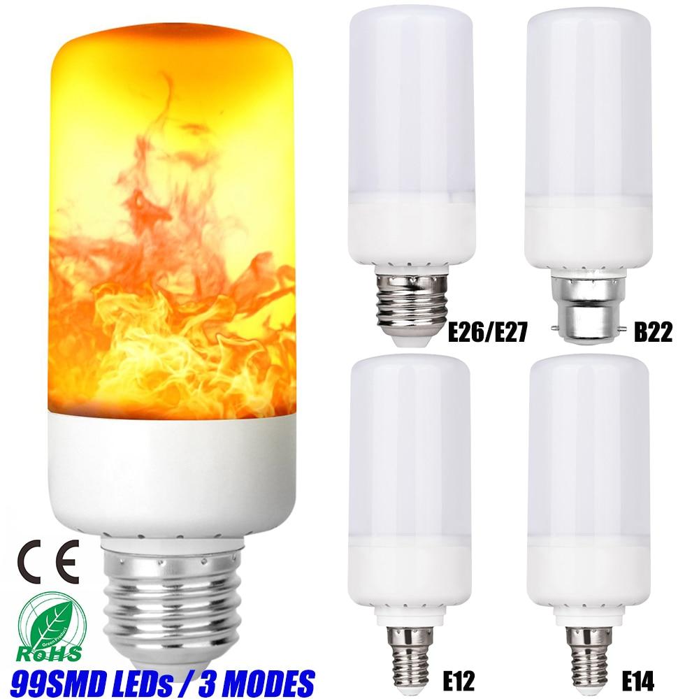 Decorative Light Bulb Flame Bulbs 99Leds 3 Modes LED Flickering Led  E26/E27 B22 E12 E14 D20