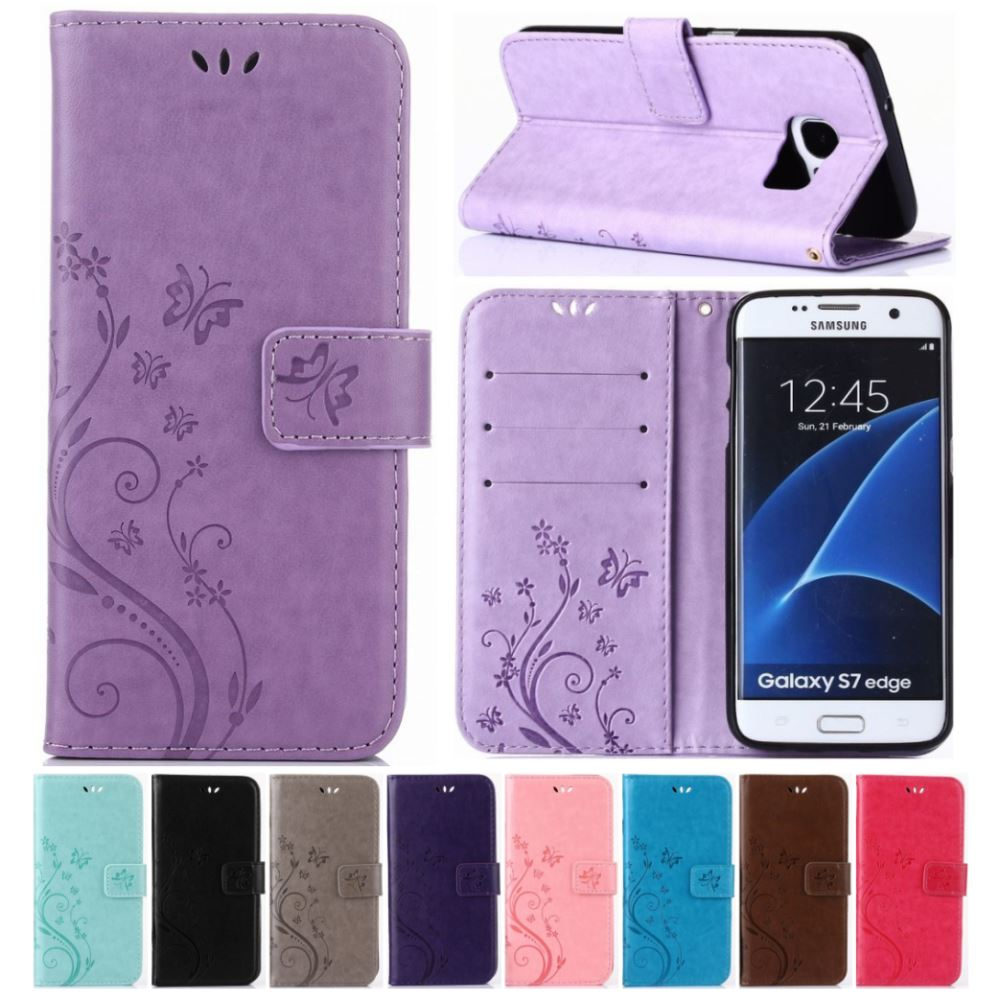 Flip կաշվե պատյան Samsung Galaxy A5 A8 2018 S9 S8 Plus S7 S6 Edge Note8 J3 J5 J7 A3 A5 2017 2016 Fundas Cover Bag D04Z