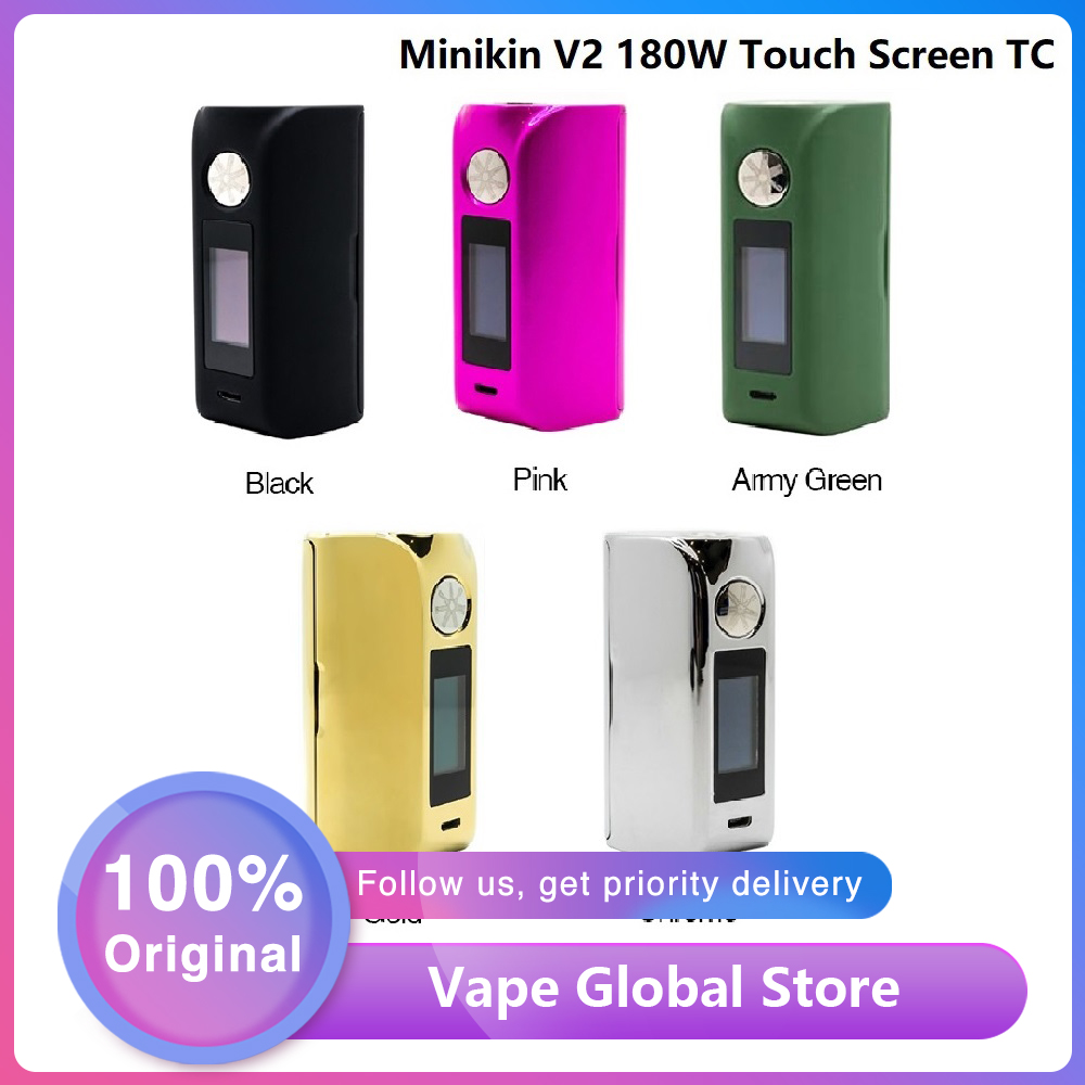 Asmodus Minikin V2 180W Touch Screen TC MOD With GX-180-HT Chipset E-cig Vape Mod Support 18650 Battery Vs Drag 2