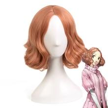 цена на Game Persona 5 Cosplay Wigs Haru Okumura Cosplay Wig Heat Resistant Synthetic Wig Hair Halloween Party Anime Women Wigs