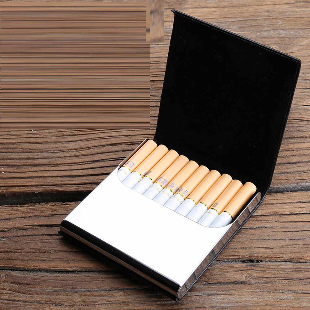 Aelicy クラシック革シガレットケースホールド 10 個男性のギフトタバコボックスビジネスマンシガーケースガジェット喫煙煙ツール