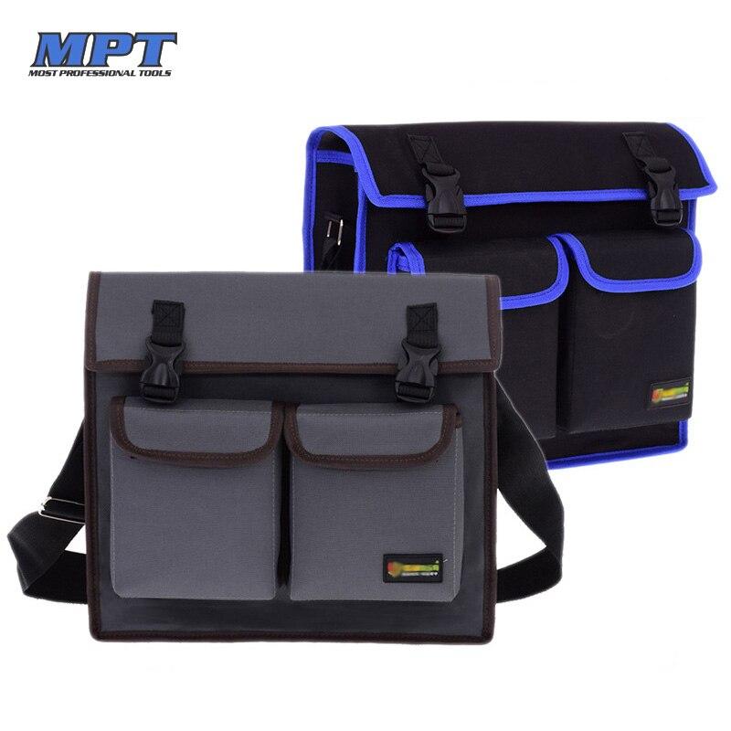 Multifunctional Single Shoulder Tool Work Bag Hardware Electrician Toolkit Organizer Waterproof Wear-resistant Oxford Cloth Belt