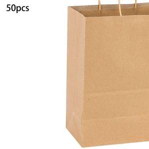 Image 5 - Papieren Zakken 50 Stuks Gift Bags, Party Tassen, Boodschappentassen, Kraft Zakken, Retail Zakken, party Tassen, Papieren Zakken Met Handvatten