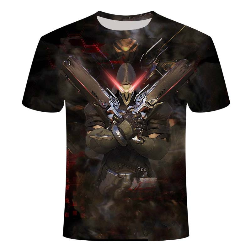 2021Overwatch Game Logo Gamer Gaming Tshirt 3D Over Short-Sleeve T Shirts Gaming Top Blizzard Overwatch Video Game Characters 2