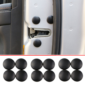 12Pc Car Door Lock Screw Protector Cover For BMW 330e M235i Peugeot 406 407 Jeep Patriot Santafe image