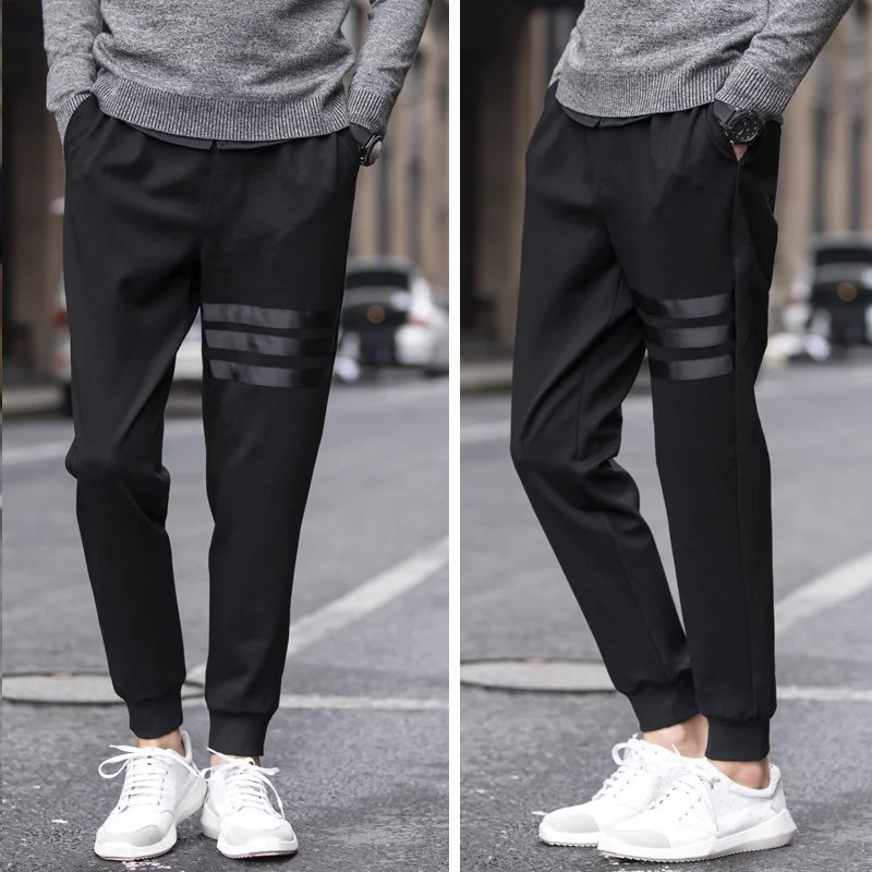2017 Men Harem Pants Slim Fit Skinny Pants Casual Athletic Pants Sweatpants Men's Closing Foot Ankle Banded Pants