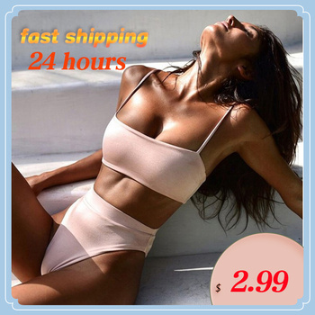 2020 Spring New  Bikini Set Women Swimsuit Solid Bikini Backless Swimwear Low Waist Bathing Suit Female Brazilian Biquini