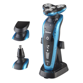 цена на Waterproof Electric Shaver for Men USB Rechargeable Nose Hair Device Hair Clipper Beard Trimmer Four Blade Razor Shaving Machine