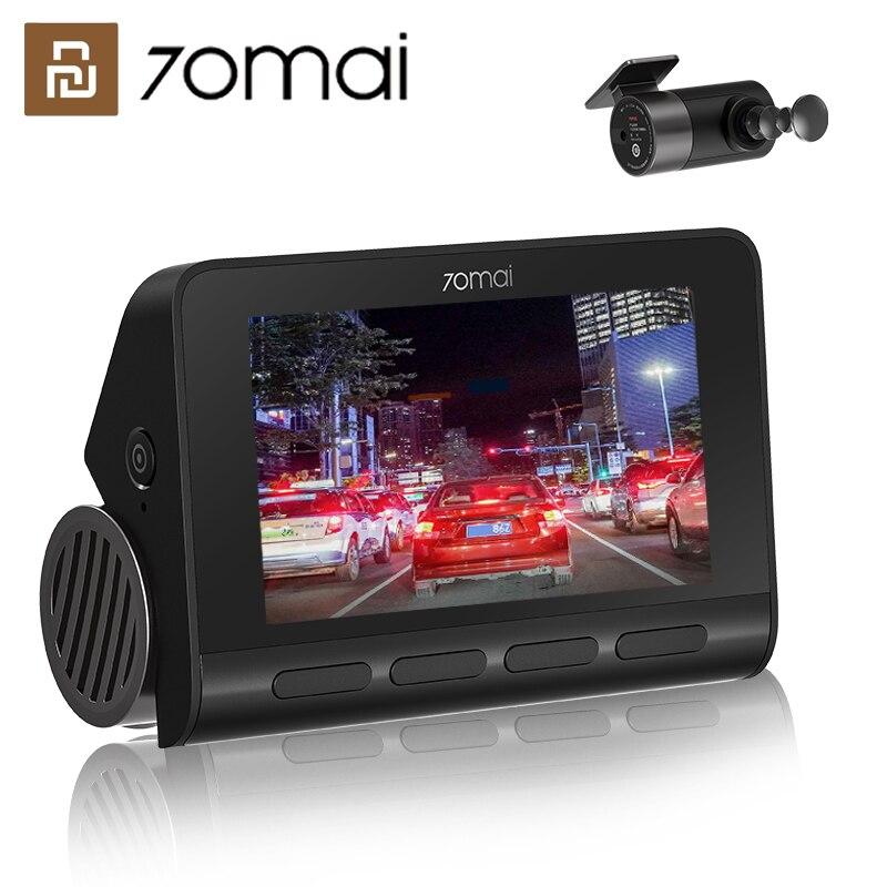 Xiaomi 70mai A800 двойного видения 4K Dash Cam FCW система GPS Встроенная 140 ° FOV 3 дюймовый HD дисплей экран|Видеорегистраторы| | АлиЭкспресс