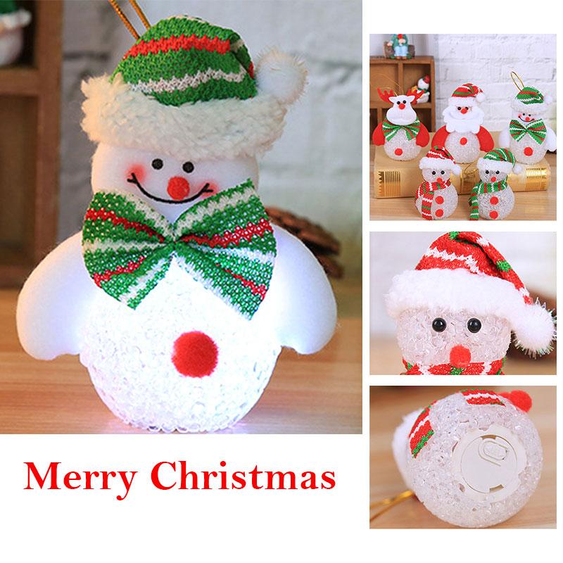 Lights Snowman LED Light Christmas Pendant EVA Hotel Home Decor Gifts Deer Ornament Cute Toys Cartoon Festival Chidren Party