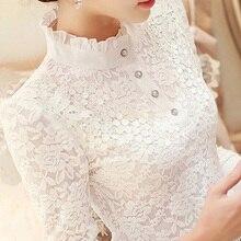 2019 new ruffles lace women blouse and shirts