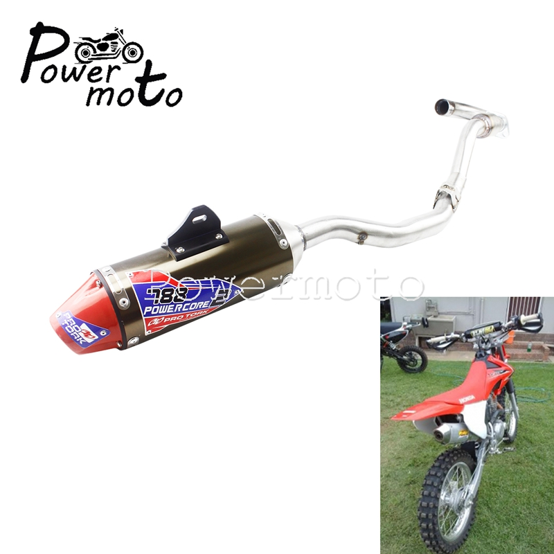 For Honda 2003-2016 CRF150F CRF230F Complete Exhaust Muffler Pipe Silencer Dirt Pit Bike Racing Tail Pipe CRF 150 230