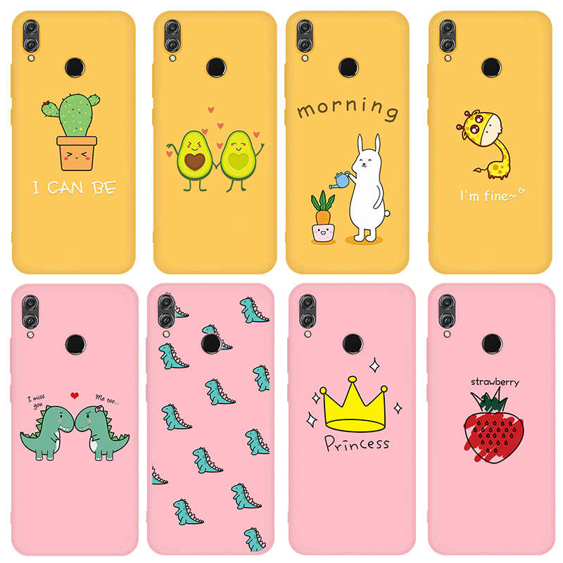 New Casptm Plant Printed Phone Cases For Honor 8X 9i 10 10i Soft TPU Silicone Cases Simple Color For Honor 9 10 Lite Case Capa