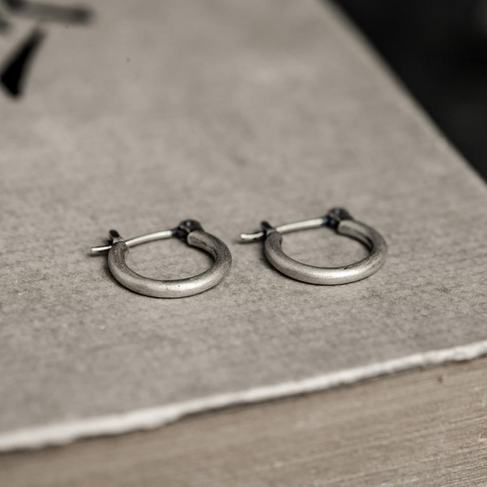 925 prata esterlina bala hoop brincos feminino