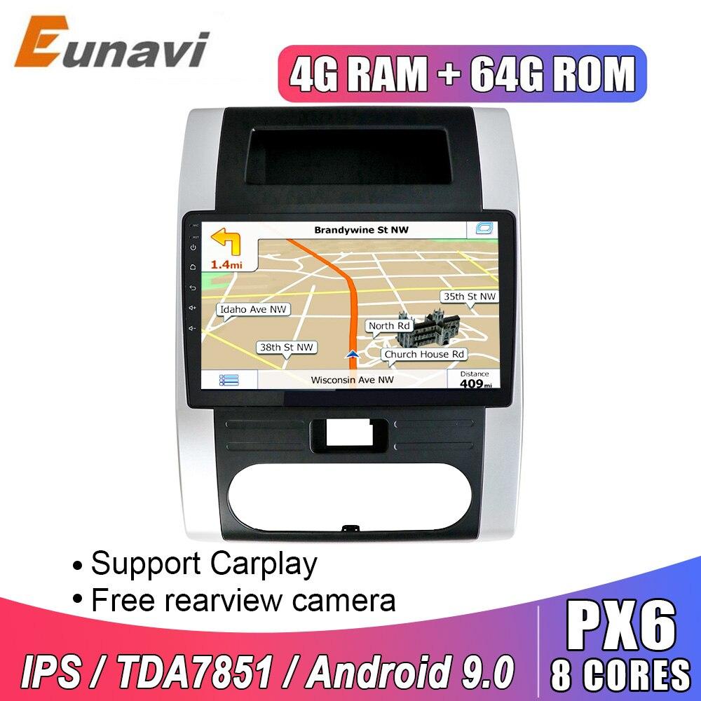 Eunavi 2 Din Android 9.0 Car Radio Multimedia Video Navigation GPS For Nissan X-Trail XTrail X Trail T32 T31 Qashq 2008-2012 IPS
