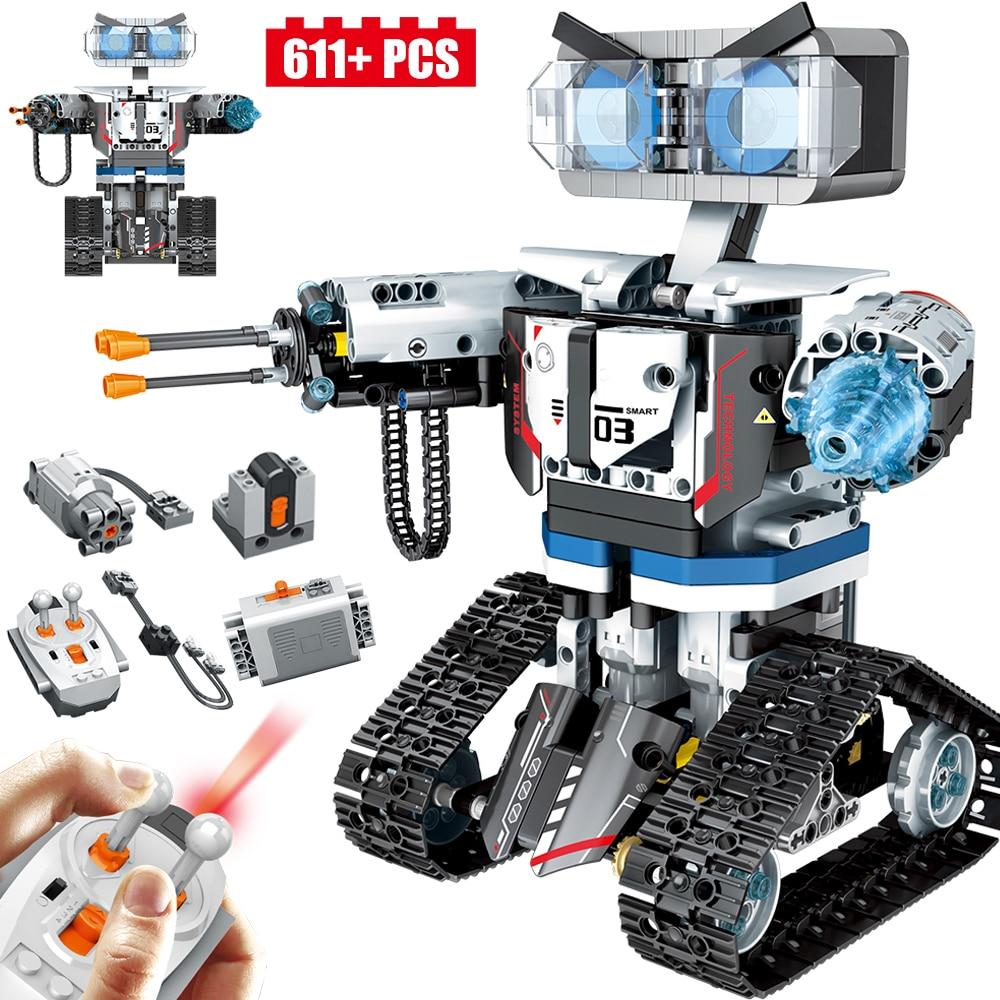 611PCS New Technic Remote Control Robot Building Blocks Future City Smart Robot Car Weapon Brick Toys Boy Gift