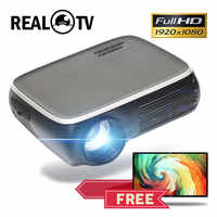 REAL TV M8S Full HD 1080P proyector 4K 7000 lúmenes cine proyector Android WiFi Airplay HDMI USB VGA AV con regalo